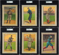Baseball Cards:Lots, 1910-11 T3 Turkey Red SGC Graded Collection (6) - With Clarke andWillis. ...