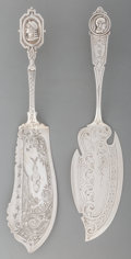 A William Gale Jr. Medallion Silver Fish Slice with Kidney & Johnson Egyptian<