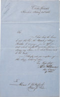 Baseball Collectibles:Others, 1866 Alexander Cartwright Handwritten & Signed Document....