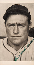 Baseball Collectibles:Photos, 1930's Hack Wilson Signed Photograph....