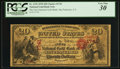 San Francisco, CA - $20 Original National Gold Bank Note Fr. 1152 The First National Gold Bank Ch. # 1741<