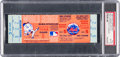 Baseball Collectibles:Tickets, 1969 World Series Game Five Full Ticket, PSA EX-MT 6--MetsClincher!...