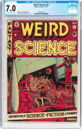Golden Age (1938-1955):Science Fiction, Weird Science #8 Canadian Edition (Superior,1951) CGC FN/VF 7.0Off-white to white pages....