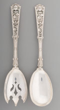 Silver & Vertu:Flatware, An American Silver Salad Serving Set with Egyptian Motifs, circa 1880-1890. Marks: STERLING. 9-1/8 inches long (23.2 cm)... (Total: 2 )