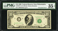 Error Notes:Doubled Third Printing, Fr. 2018-C $10 1969 Federal Reserve Note. PMG Choice Very Fine 35EPQ.. ...