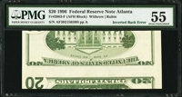 Fr. 2083-F $20 1996 Federal Reserve Note. PMG About Uncirculated 55