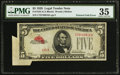 Error Notes:Foldovers, Fr. 1525 $5 1928 Legal Tender Note. PMG Choice Very Fine 35.. ...