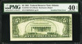 Error Notes:Miscellaneous Errors, Fr. 1976-F $5 1981 Federal Reserve Note. PMG Extremely Fine 40 EPQ.. ...