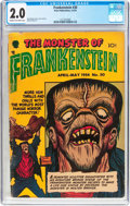 Golden Age (1938-1955):Horror, Frankenstein Comics #30 (Prize, 1954) CGC GD 2.0 Cream to off-whitepages....