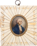 Antiques:Decorative Americana, George Washington: Miniature Portrait Wall Hanging....