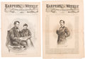 Political:Presidential Relics, [Abraham Lincoln]: Illustrations from Harper's Weekly Announcing Lincoln's Assassination.... (Total: 3 Items)