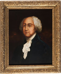 John Adams: A fine 1805-dated Oil on Canvas Portrait Attributed to William Dunlap