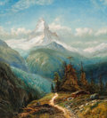 Paintings, Edmund Darch Lewis (American, 1835-1910). The Matterhorn, 1872. Oil on canvas. 34-1/2 x 30-1/2 inches (87.6 x 77.5 cm). ...