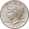 Proof Peace Dollars, 1922 $1 Matte Finish, High Relief PR64 PCGS. CAC....