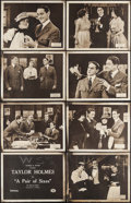 "Movie Posters:Comedy, A Pair of Sixes (Essanay, 1918). Lobby Card Set of 8 (11"" X 14"").Comedy.. ... (Total: 8 Items)"