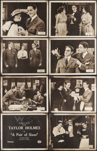 """A Pair of Sixes (Essanay, 1918). Lobby Card Set of 8 (11"""" X 14""""). Comedy. ... (Total: 8 Items)"""