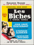 "Movie Posters:Foreign, Les Biches (CFDC, 1969). Australian One Sheet (30"" X 40""). Foreign.. ..."