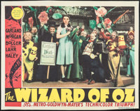 """The Wizard of Oz (MGM). Autographed Enlarged Lobby Card Reproduction (22"""" X 28""""). Fantasy"""