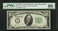 Fr. 2006-I* $10 1934A Federal Reserve Note. PMG Gem Uncirculated 66 EPQ
