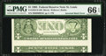 Error Notes:Inverted Reverses, Fr. 1922-H $1 1995 Federal Reserve Note. PMG Gem Uncirculated 66EPQ.. ...