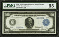 Fr. 1108 $100 1914 Federal Reserve Note PMG About Uncirculated 55