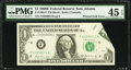 Error Notes:Foldovers, Fr. 1905-F $1 1969B Federal Reserve Note. PMG Choice Extremely Fine45 EPQ.. ...