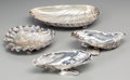 Silver Holloware, American:Bowls, Four Silver Oceanic Shell-Form Dishes by Whiting and Gorham, NewYork, New York, late 19th century. Marks: (W-griffin), ST...(Total: 4 )