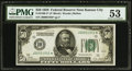 Fr. 2100-J* $50 1928 Federal Reserve Note. PMG About Uncirculated 53