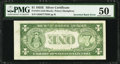 Error Notes:Inverted Reverses, Fr. 1614 $1 1935E Silver Certificate. PMG About Uncirculated 50.....