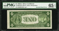 Error Notes:Inverted Reverses, Fr. 1608 $1 1935A Silver Certificate. PMG Gem Uncirculated 65 EPQ.....