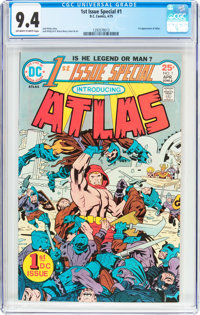 1st Issue Special #1 Atlas (DC, 1975) CGC NM 9.4 Off-white to white pages