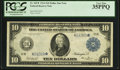 Large Size:Federal Reserve Notes, Fr. 945* $10 1914 Federal Reserve Note PCGS Very Fine 35PPQ.. ...