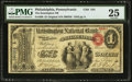 National Bank Notes:Pennsylvania, Philadelphia, PA - $1 Original Fr. 380 The Kensington NB Ch. # 544....