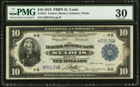 Fr. 815 $10 1918 Federal Reserve Bank Note PMG Very Fine 30
