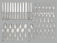 A Rare Forty-Eight Piece Tiffany & Co. William K. Vanderbilt Pattern Flatware Service