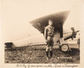 Autographs, Charles Lindbergh Signed and Inscribed Photograph. ... (Total: 2 )