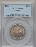 Coins of Hawaii , 1883 25C Hawaii Quarter MS66 PCGS....