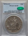 Trade Dollars, 1876-CC T$1 Type One Obverse, Type Two Reverse XF45 PCGS. CAC....