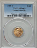 Commemorative Gold, 1915-S G$1 Panama-Pacific Gold Dollar MS66+ PCGS....