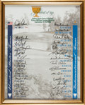Golf Collectibles:Autographs, 1996 The Presidents Cup Print Signed by 27....