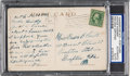 Baseball Collectibles:Others, 1913 Honus Wagner Handwritten & Signed Postcard, PSA/DNA Authentic....