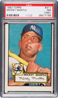 Baseball Cards:Singles (1950-1959), 1952 Topps Mickey Mantle #311 PSA NM 7 (MC)....