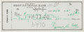 Baseball Collectibles:Others, 1960 Ty Cobb Signed Check....