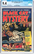 Golden Age (1938-1955):Horror, Black Cat Mystery #34 (Harvey, 1952) CGC NM 9.4 Cream to off-whitepages....