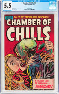 Golden Age (1938-1955):Horror, Chamber of Chills #23 (Harvey, 1954) CGC FN- 5.5 Cream to off-whitepages....