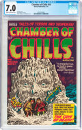 Golden Age (1938-1955):Horror, Chamber of Chills #10 (Harvey, 1952) CGC FN/VF 7.0 Cream tooff-white pages....