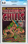 Golden Age (1938-1955):Horror, Chamber of Chills #12 (Harvey, 1952) CGC VF 8.0 Light tan tooff-white pages....
