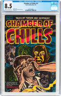 Golden Age (1938-1955):Horror, Chamber of Chills #15 (Harvey, 1953) CGC VF+ 8.5 Cream to off-whitepages....