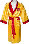 "Boxing Collectibles:Memorabilia, 1990's Thomas ""Hitman"" Hearns Match Worn & Signed Robe. ..."