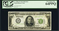 Fr. 2200-H $500 1928 Federal Reserve Note. PCGS Very Choice New 64PPQ